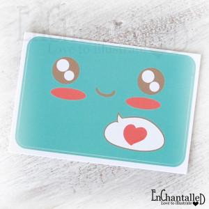 Kawaii sticker turquoise_EnChantalled