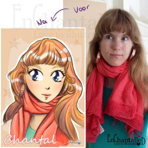 manga portret kleur
