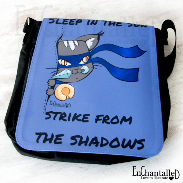 schoudertas ninja cat tas enchantalled