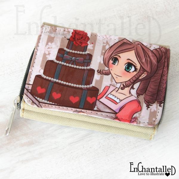portemonnee manga kawaii anime portemonnees taart cake chocolade enchantalled