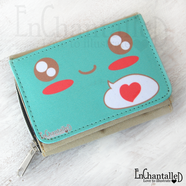 Love kawaii mint groen portemonnee schattig cute EnChantalled