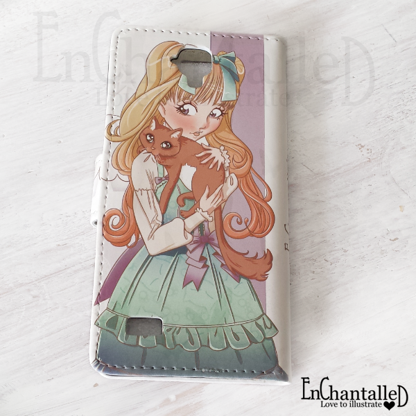anime telefoonhoesje kawaii manga lolita kat cat kiity pastel EnChantalled