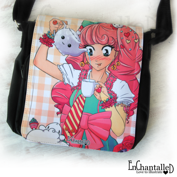 Anime tas tea party manga kawaii schattig roze schoudertas vrolijk EnChantalled