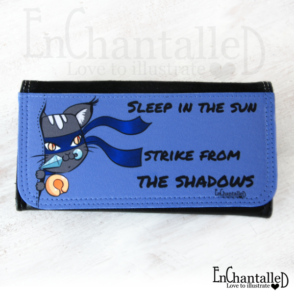 portemonnnee ninja kat cat kawaii grappig geek