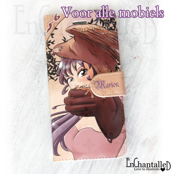 telefoonhoesje anime manga mobiel hoesje bruin avontuurlijk, fantasie