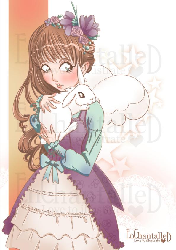 art print poster manga anime my bunny konijn konijntje lolita