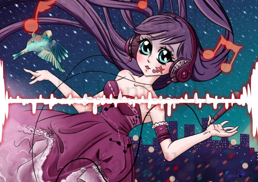 art print poster manga anime nightcore muziek music