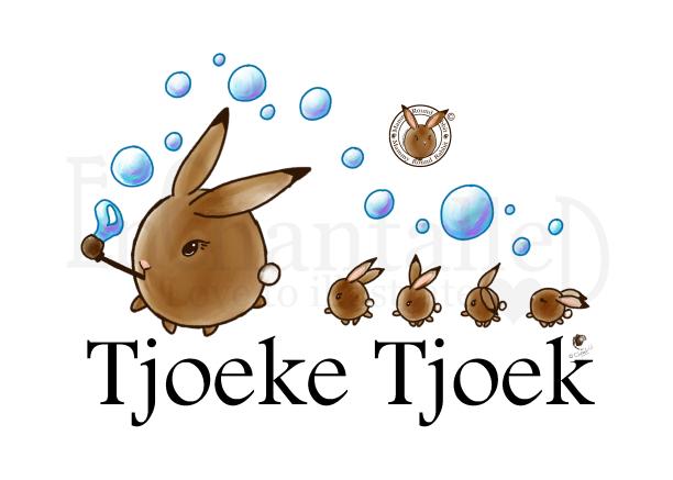 Art print poster mama rond konijn tjoeke tjoek trein konijnenen kawaii EnChantalled