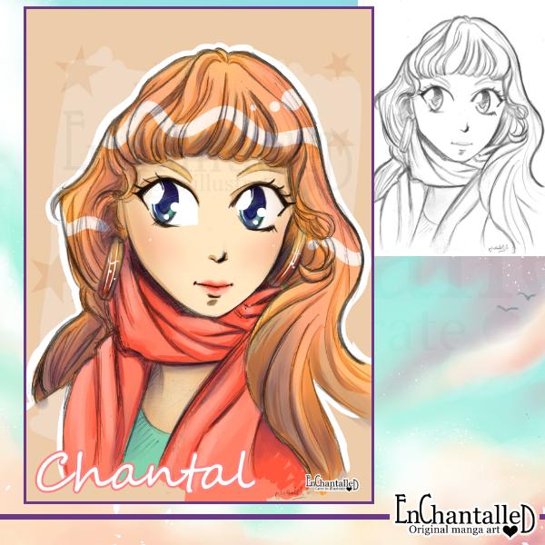 manga portret kleur anime EnChantalled portretten