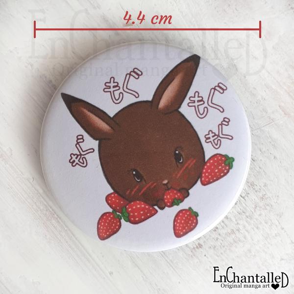 button konijn konijnen aardbei mama rond konijn EnChantalled