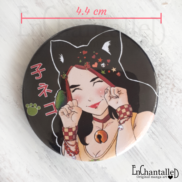 button, kat meisje, manga, anime, buttons, EnChantalled