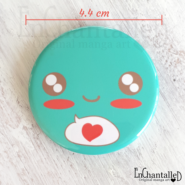 kawaii button_mint_groen_schattig_lief_cute_deco kei_EnChantalled