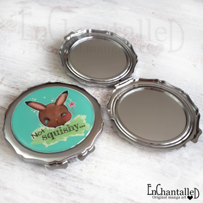 spiegel, zak spiegel, kawaii, spiegeltje, make-up spiegel, konijn, konijntje, zakspiegel, mama rond konijn