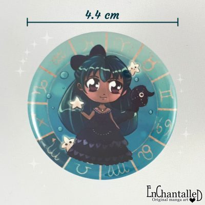 Button chibi zodiak schorpioen