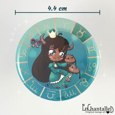 Button chibi zodiak stier