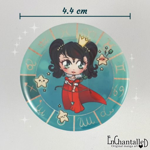 Button chibi zodiak boogschutter