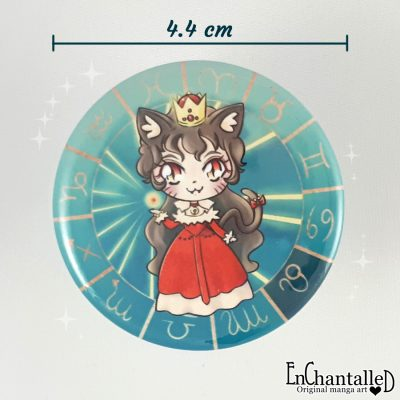 Button chibi zodiak leeuw leo sterrenbeeld