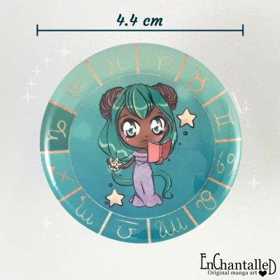 button chibi zodiak steenbok