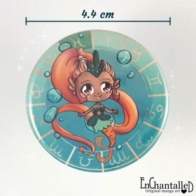 button chibi zodiak vissen