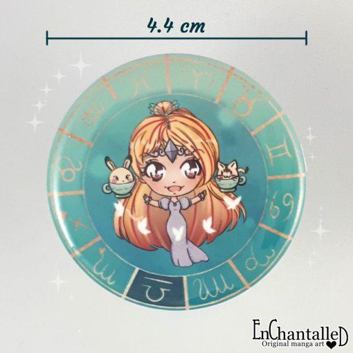 button chibi zodiak weegschaal