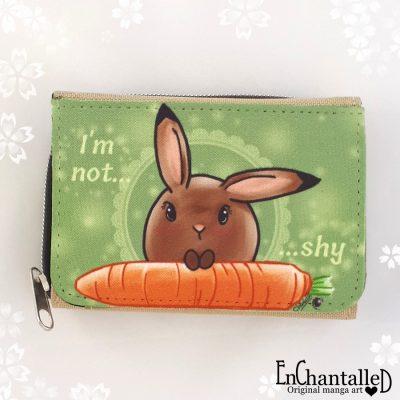 portemonnee mama rond konijn kawaii schattig groen