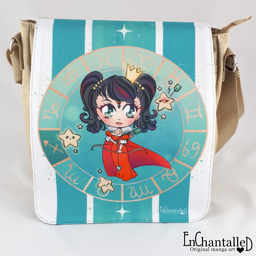 schoudertas_tas_zodiak_sterrenbeeld_boogschutter_sagittarius_EnChantalled_manga_anime_chibi