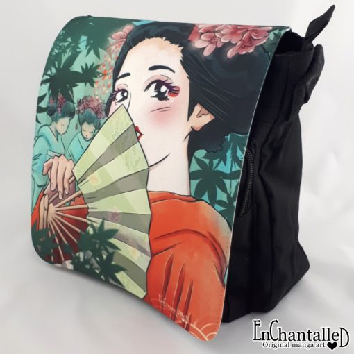 schoudertas maiko anime tekenstijl geisha geiko japan