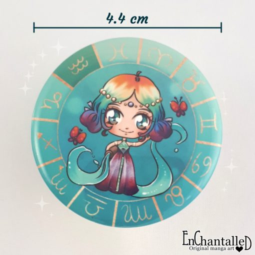 button chibi zodiak waterman aquarius horoscoop_dierenriem