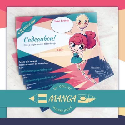 cadeaubon online manga workshops anime tekenlessen