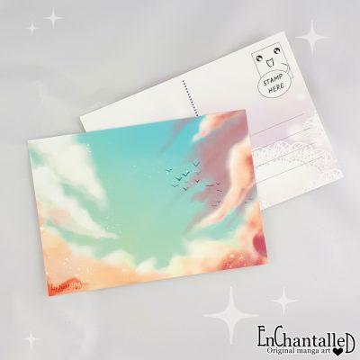 ansichtkaart droom wolken lucht