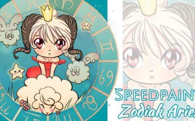 Manga Speedpaint Party: Chibi Zodiak Prinses Aries (Ram)