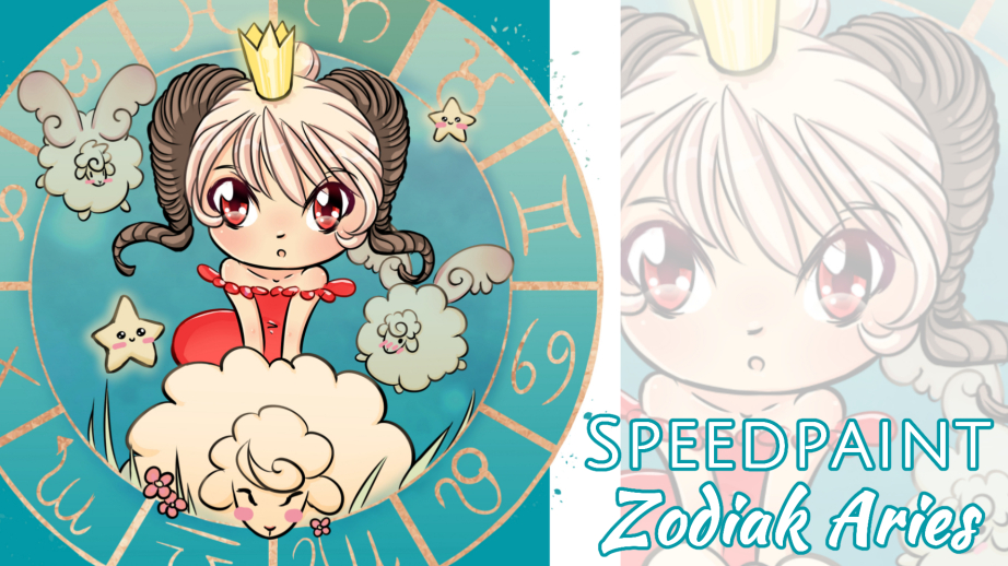 Manga Speedpaint Party: Chibi Zodiak Prinses Aries (Ram)