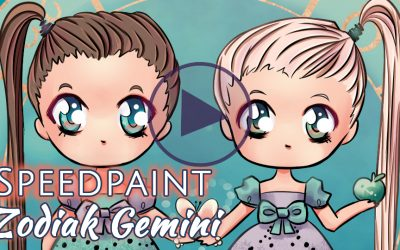 Manga Speedpaint Party: Chibi Zodiak Prinsessen Tweeling