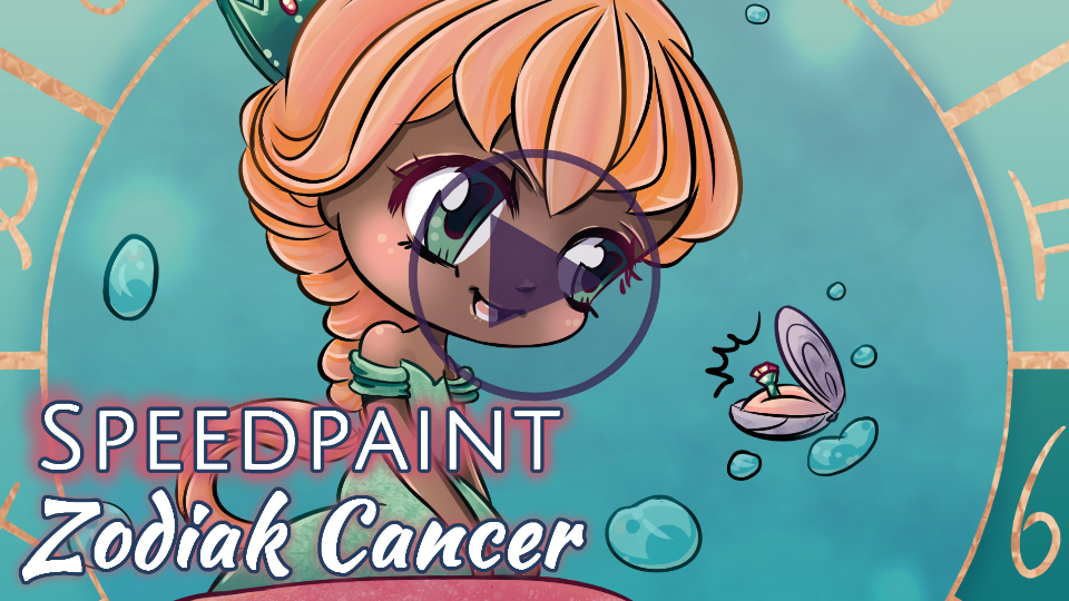 Manga Speedpaint Party: Chibi Zodiak Prinses Kreeft