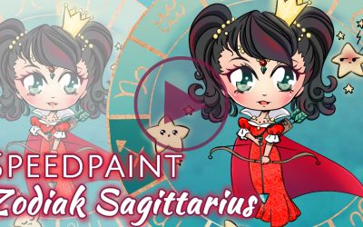 Manga Speedpaint Party: Chibi Zodiak Prinses Boogschutter