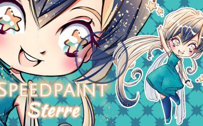 Speedpaint Sterre: Ik teken een manga meisje omringd met sterren in chibi stijl