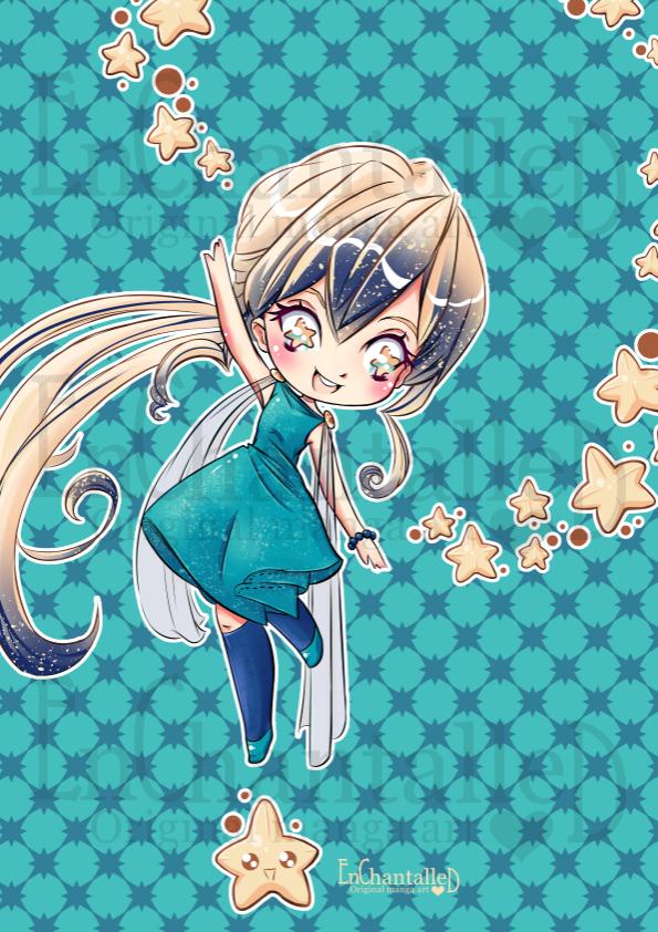 art print digtaal kunst art manga anime Vampier Lena