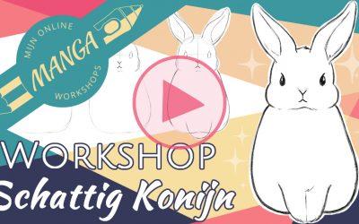 Laten we een schattig konijn tekenen! Stap voor stap tekenles